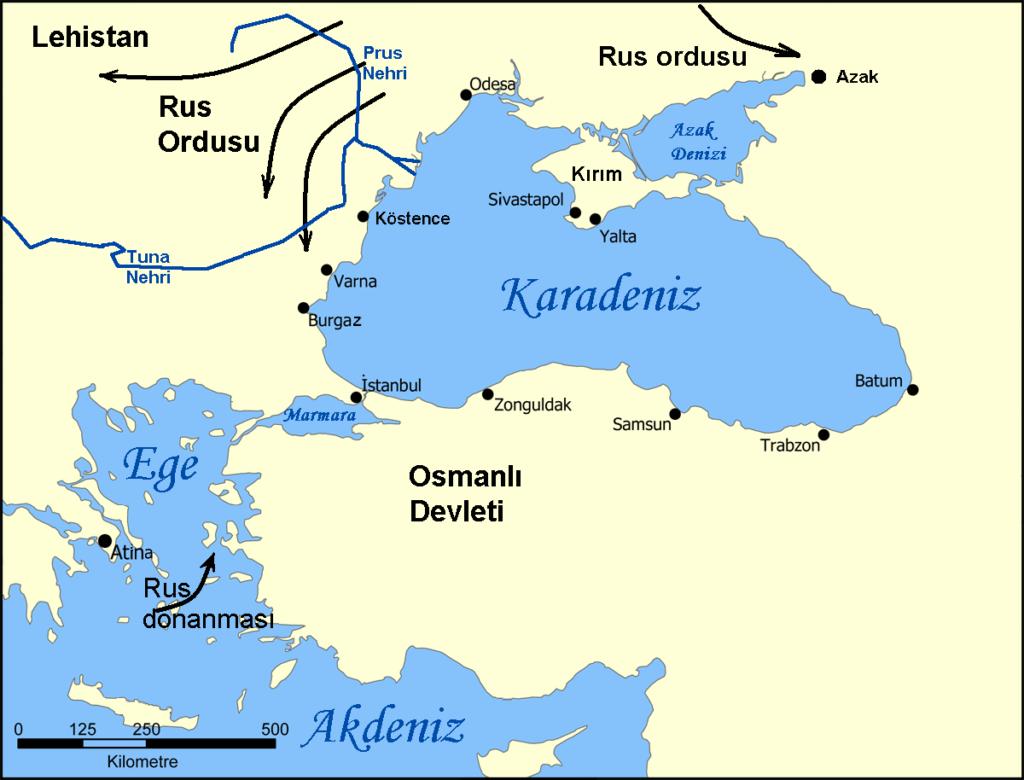 prut savaşı haritası