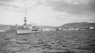 izmir işgalinde savaş gemileri