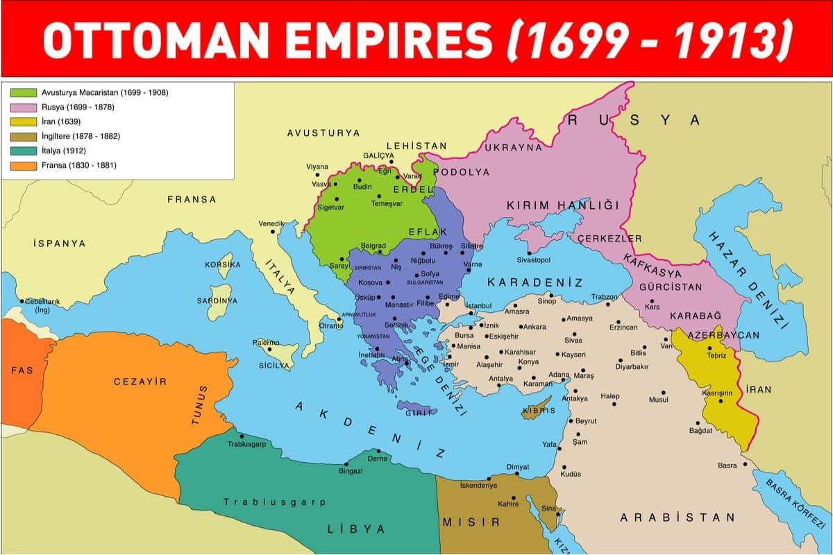 osmanlı devleti sınırları