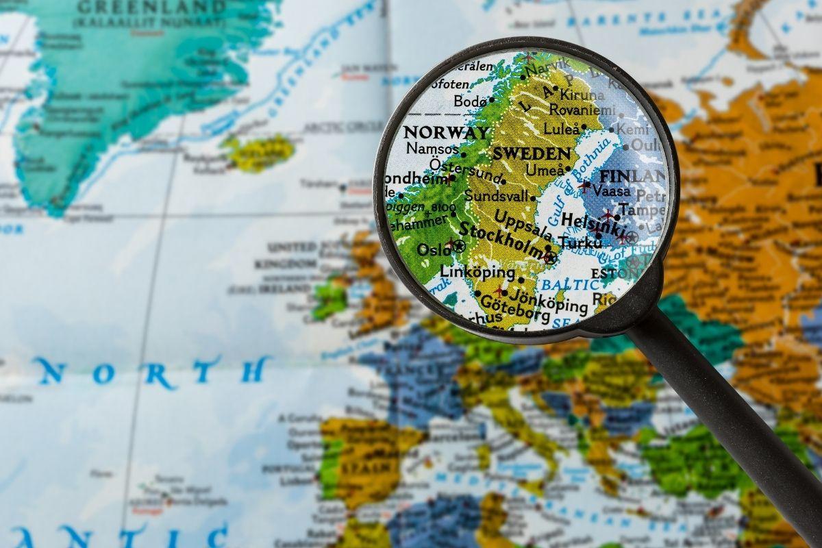 isveç haritası