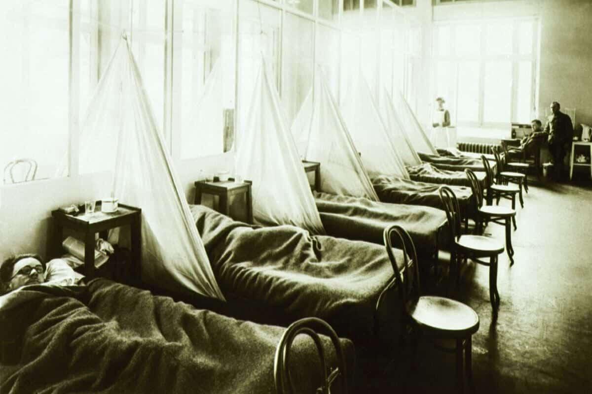 abd ordu kampı hastanesinde bir grip koğuşu