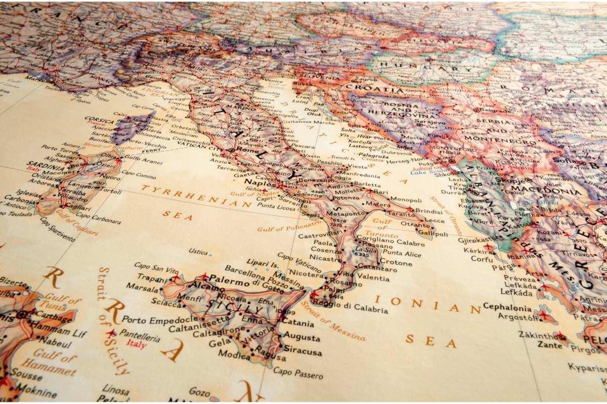 italya haritası