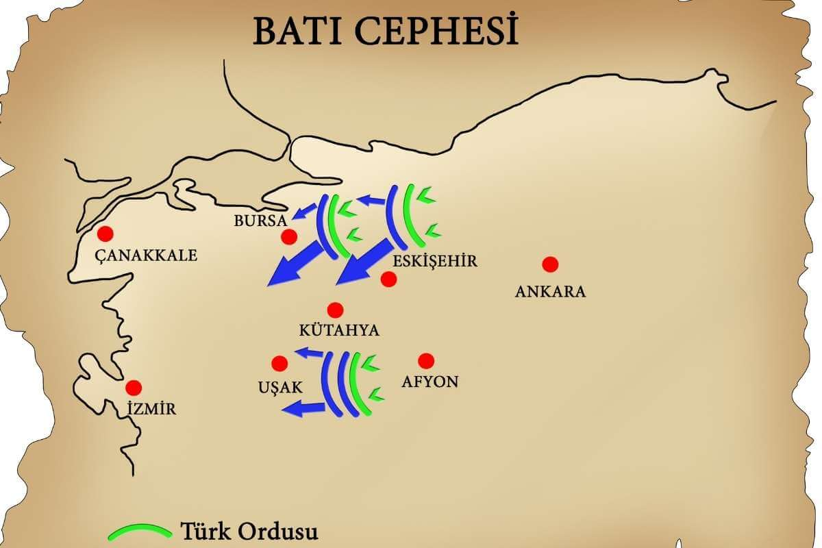 batı cephesi haritası