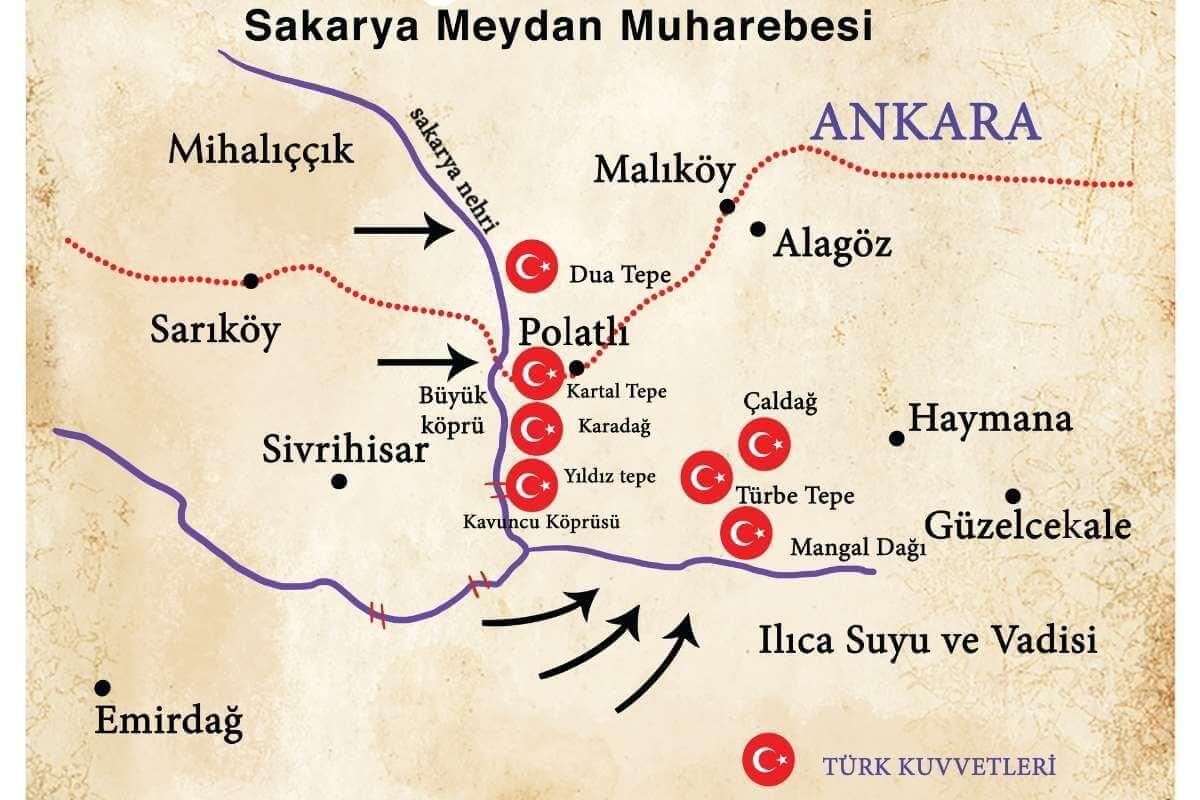 sakarya savaş haritası