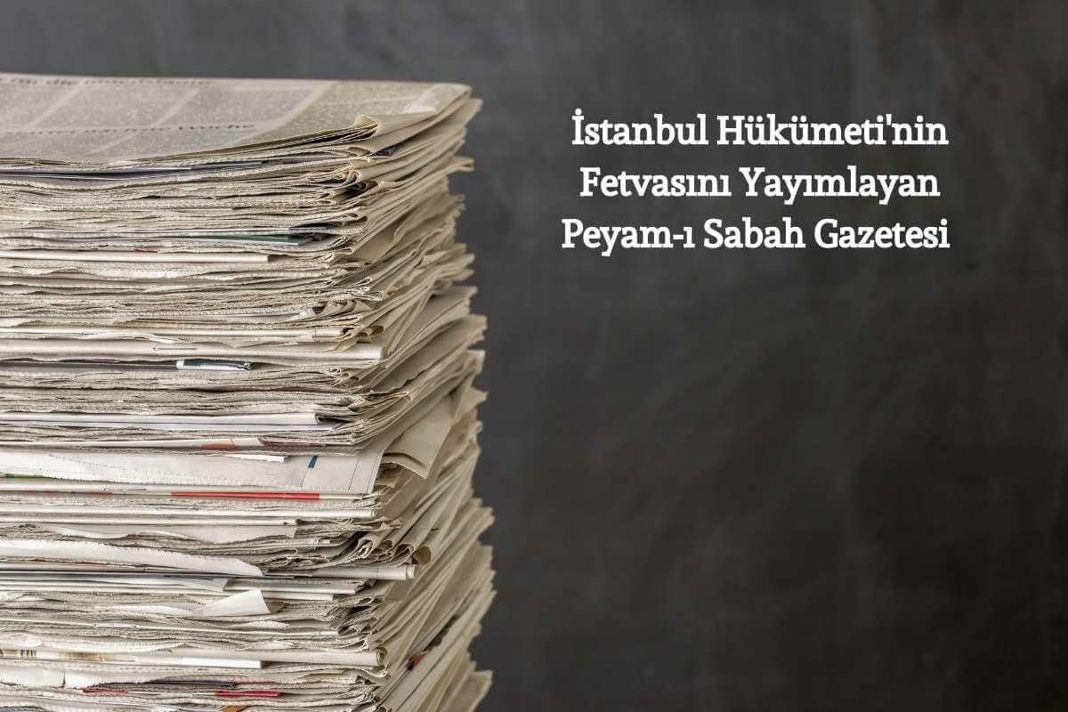 istanbul hükümetinin anadolu hareketi aleyhine yayımladığı beyanname